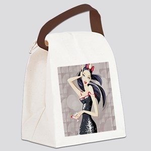 Beautiful Anime Woman Canvas Lunch Bag