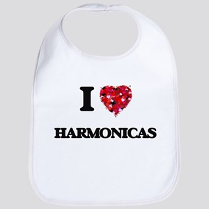 I love Harmonicas Bib