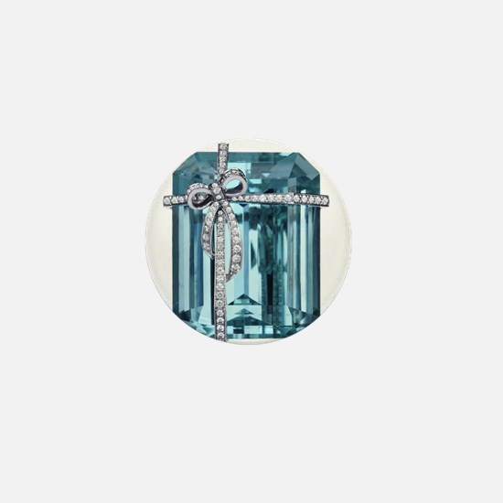 Blue-Brooch Jewelry Mini Button