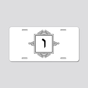 Vav Hebrew monogram Aluminum License Plate