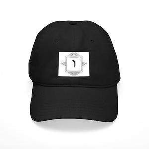eef5ef95883f7 Monogrammed V Black Cap With Patch - CafePress