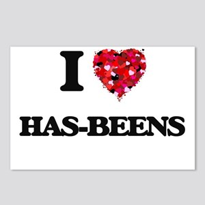 I love Has-Beens Postcards (Package of 8)