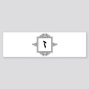Zayin Hebrew monogram Bumper Sticker