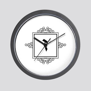 Zayin Hebrew monogram Wall Clock