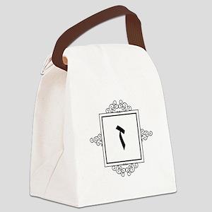 Zayin Hebrew monogram Canvas Lunch Bag