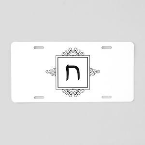Chet Hebrew monogram Aluminum License Plate