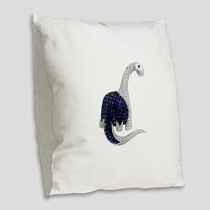 Diamond_Emerald_Dinosaur Burlap Throw Pillow