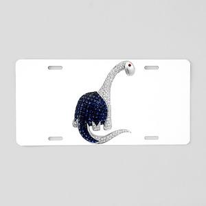 Diamond_Emerald_Dinosaur Aluminum License Plate