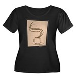 Hot Coff Women's Plus Size Scoop Neck Dark T-Shirt