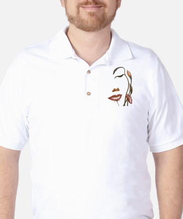 Face flower Golf Shirt