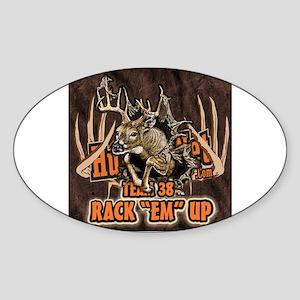 "Rack ""em"" Up team 38 Oval Sticker"
