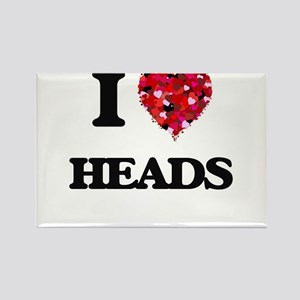 I love Heads Magnets