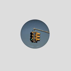 Traffic Lights New York City Mini Button