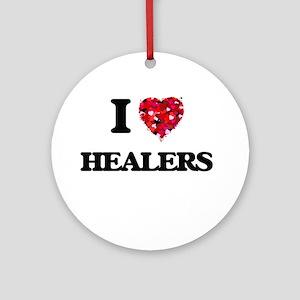 I love Healers Ornament (Round)