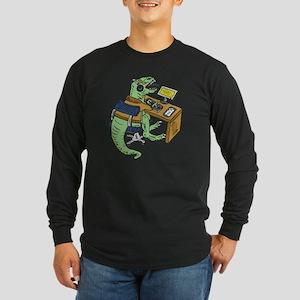 Office T-Rex Long Sleeve Dark T-Shirt