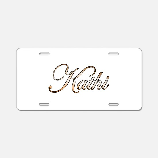 Gold Kathi Aluminum License Plate