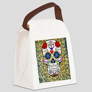 Skull Canvas Lunch Bag