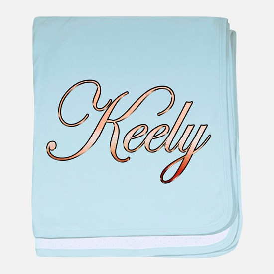 Gold Keely baby blanket