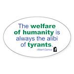Albert Camus Oval Sticker