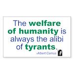 Albert Camus Rectangle Sticker