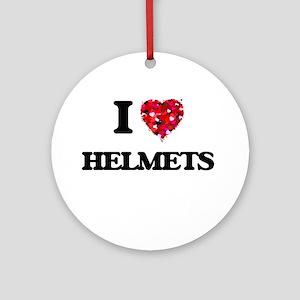 I love Helmets Ornament (Round)