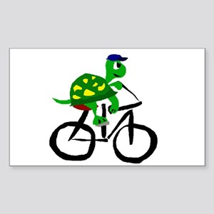 Turtle Riding Bicycle Sticker