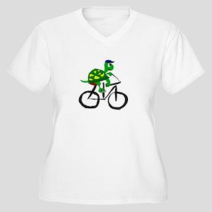 Turtle Riding Bicycle Plus Size T-Shirt
