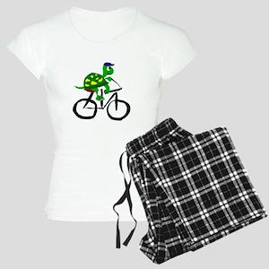 Turtle Riding Bicycle Women's Light Pajamas