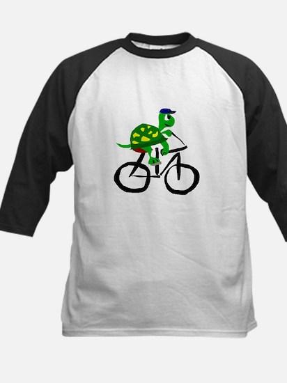 Turtle Riding Bicycle Baseball Jersey