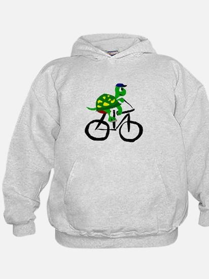 Turtle Riding Bicycle Hoodie