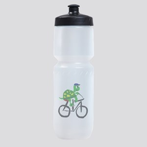 Turtle Riding Bicycle Sports Bottle