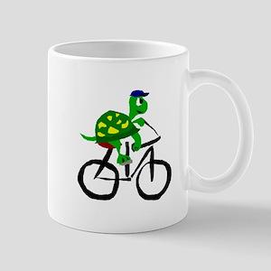 Turtle Riding Bicycle Mugs