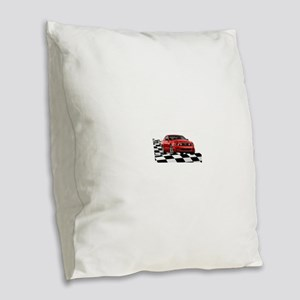 2014RRMustangGT Burlap Throw Pillow