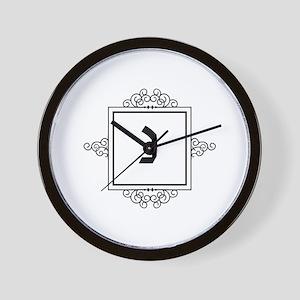 Nun Hebrew monogram Wall Clock