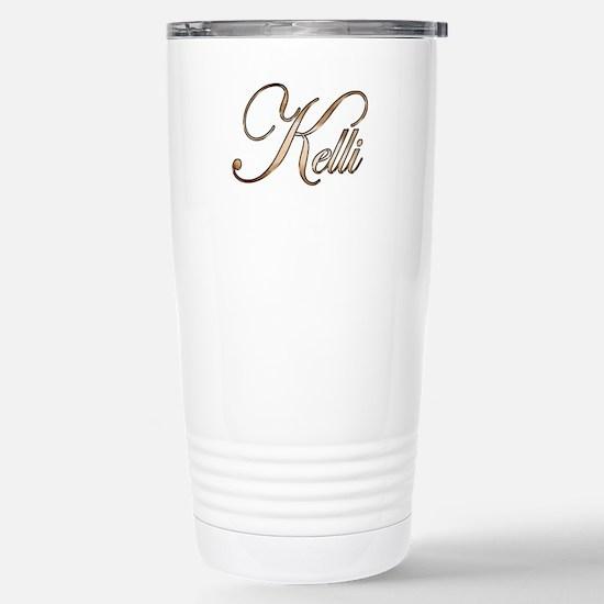 Gold Kelli Stainless Steel Travel Mug
