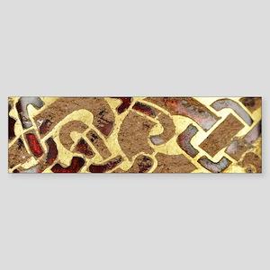 Garnet and Gold Jewelry Bumper Sticker
