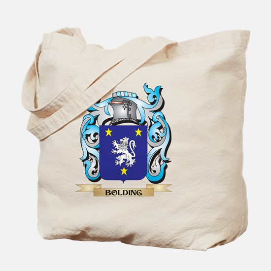Bolding Coat of Arms - Family Crest Tote Bag