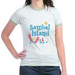 Sanibel Island - Jr. Ringer T-Shirt