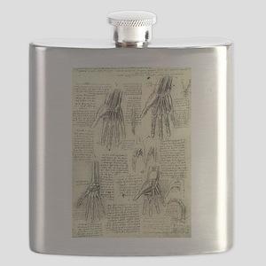 Anatomy of Human Hand by Leonardo da Vinci Flask
