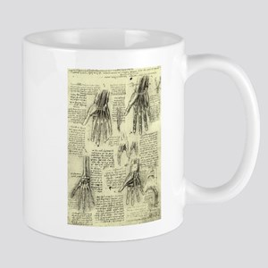 Anatomy of Human Hand by Leonardo da Vinci Mugs
