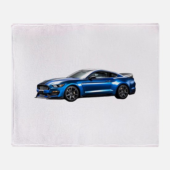 Cute Mustang shelby Throw Blanket