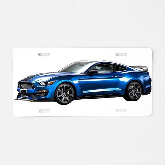 Unique Mustang gt Aluminum License Plate