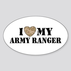 I Love My Army Ranger Oval Sticker