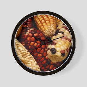 Dried up Fall Corn Wall Clock