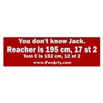 You don't know Jack Sticker (Bumper)