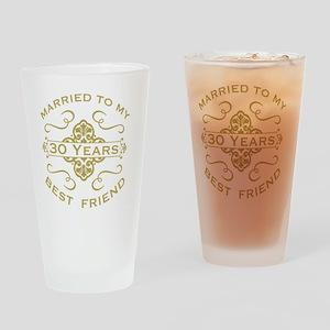Married My Best Friend 30th Drinking Glass