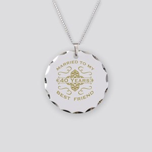Married My Best Friend 40th Necklace Circle Charm