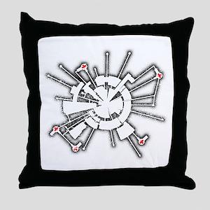 Grunge Alpha Base Throw Pillow