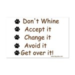 No Whining Mini Poster Print