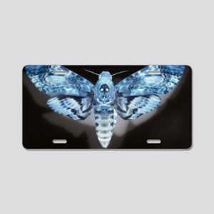 Moth Aluminum License Plate